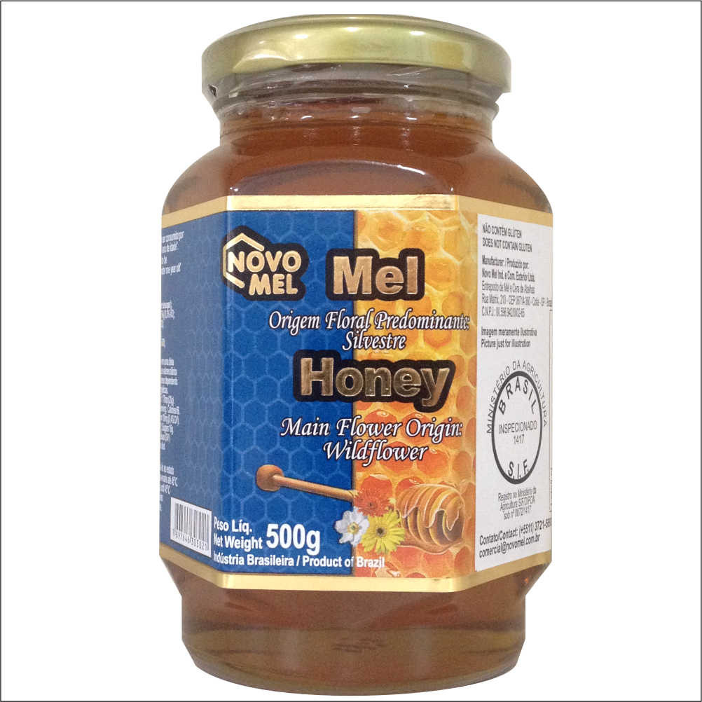 mel puro silvestre 500g novo mel